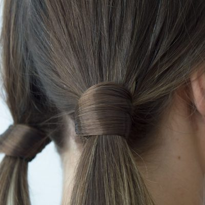 Hair Bobble Wraps in ponytails