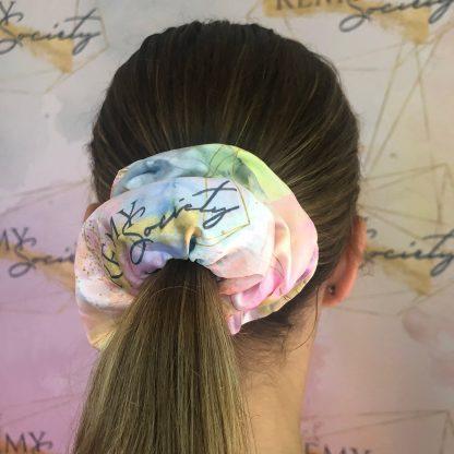 Remy society scrunchie in hair